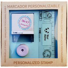 Coffret tampon marqueur textile et papier personnalisable MINE