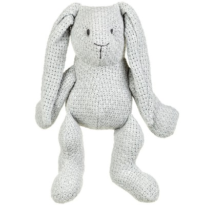 Peluche lapinou Robust Maille gris (30 cm) Baby's Only