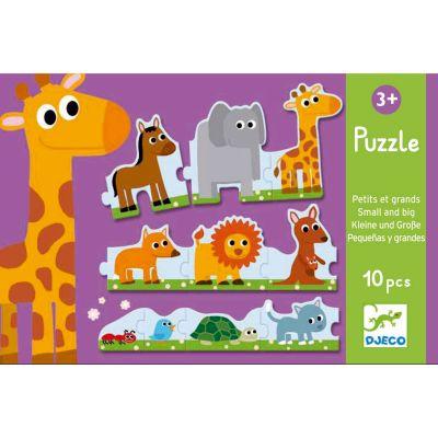 Puzzle petits et grands (10 pièces)  par Djeco