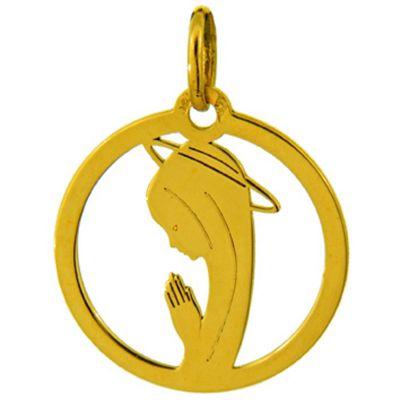 Médaille ajourée Vierge (or jaune 750°)  par A.Augis