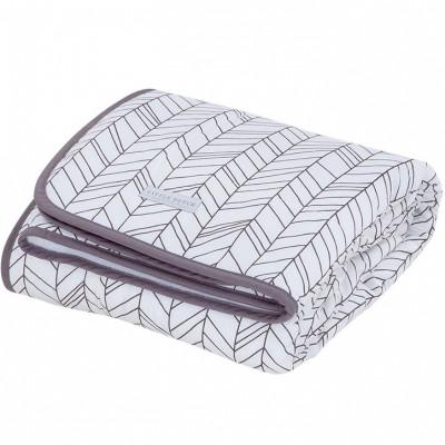 couverture de lit pure soft white leaves 110 x 140 cm par little dutch. Black Bedroom Furniture Sets. Home Design Ideas