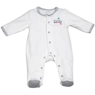 Pyjama chaud Mister Bouh blanc (1 mois : 54 cm)  par Sauthon