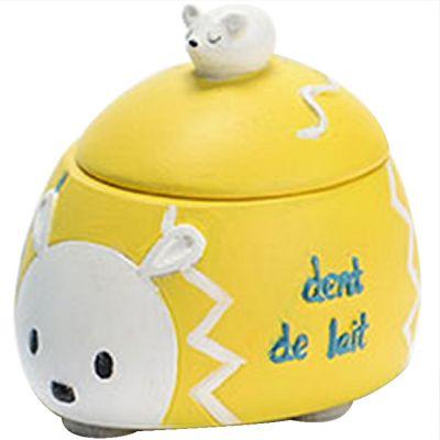 Boîte à dent hérisson Harold jaune  par Amadeus Les Petits