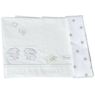 Parure de lit drap + taie d'oreiller Basile (120 x 180 cm)  par Nougatine