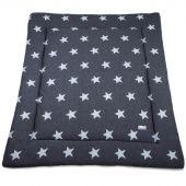 Tapis de parc Star gris anthracite et gris (85 x 100 cm) - Baby's Only