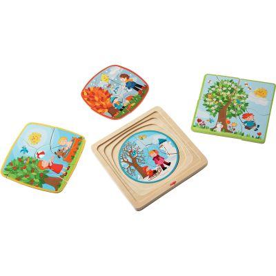 Set petits puzzles Ma saison préférée (4 à 7 pièces) Haba