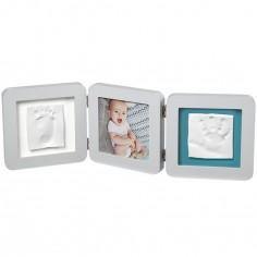 Cadre photo empreinte My Baby Touch double pastel