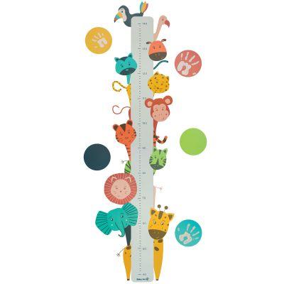 Toise sticker empreinte animaux Growing chart  par Baby Art