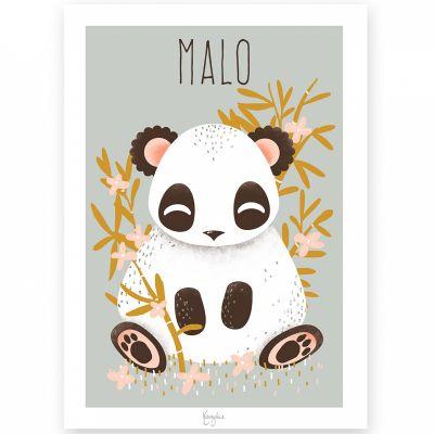 Affiche A4 Les Animignons le panda (personnalisable)  par Kanzilue