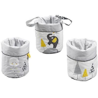 Lot de 3 paniers de toilette Babyfan  par Sauthon