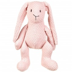 Peluche lapinou Robust Maille rose (30 cm)