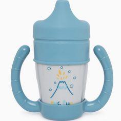 KINJOHI Bambin tasse En buvant Eau Entra/îneur Bec tasse Double poign/ée isol/ée Entra/înement Paille Biberon Enfants