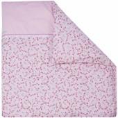 Housse de couette pour berceau Pink Blossom (80 x 80 cm) - Little Dutch
