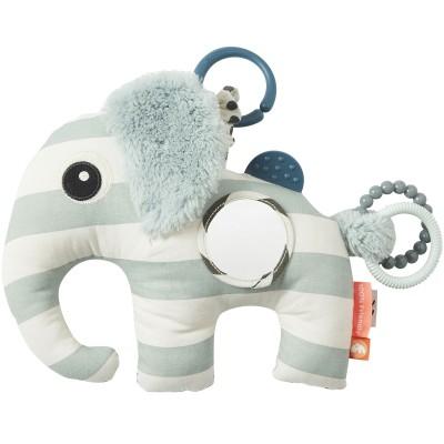 Jouet d'éveil à suspendre Elphee l'éléphant bleu  par Done by Deer