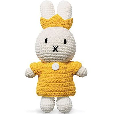 Peluche reine Miffy Royal jaune (25 cm)  par Just Dutch