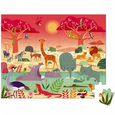 Mallette puzzle Réserve animalière (54 pièces)  par Janod