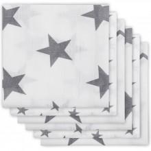 Lot de 6 langes hydrophiles Little star étoile gris anthracite (70 x 70 cm)  par Jollein