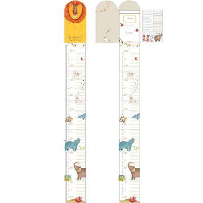 Toise carnet dépliable Les Papoum (138 cm)  par Moulin Roty