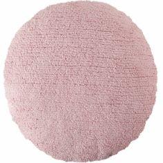 Coussin rond rose (diamètre 45 cm)