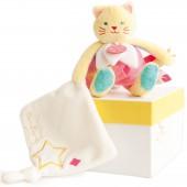 Doudou plat Luminescent chat (25 cm) - Doudou et Compagnie