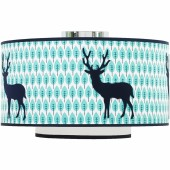 Abat-jour Blue deer (diamètre 35 cm) - Taftan
