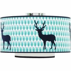 Abat-jour Blue deer (diamètre 35 cm)