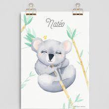 Affiche A4 Koala (personnalisable)  par Gaëlle Duval
