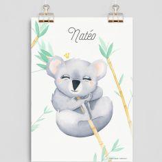 Affiche A4 Koala (personnalisable)