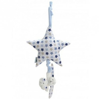 Etoile musicale lapin Mixed stars blue (40 cm) Little Dutch