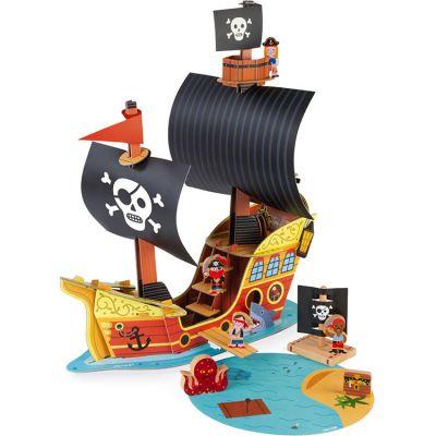 Bateau pirate avec figurines Story  par Janod
