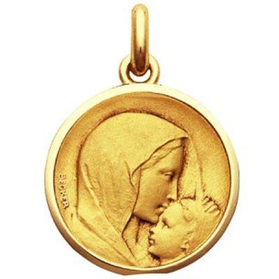 Médaille Baiser à l'enfant (or jaune 750°)  par Becker