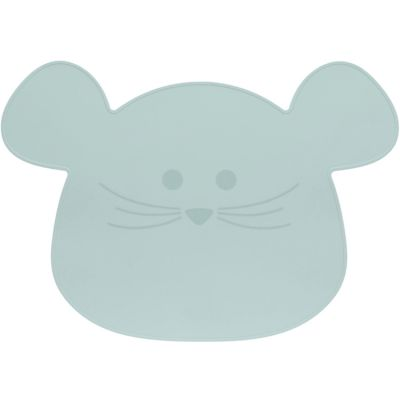 Set de table en silicone souris vert d'eau Little Chums  par Lässig