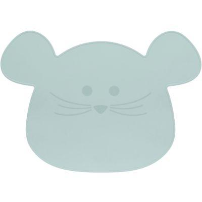 Set de table en silicone souris vert d'eau Little Chums  par Lässig
