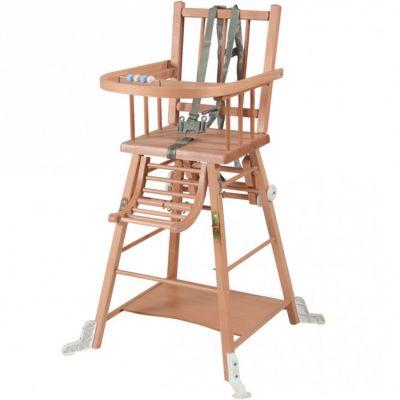 Chaise haute traditionnelle transformable Marcel vernis naturel