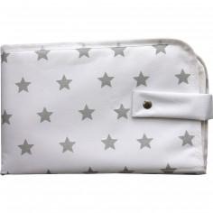 Tapis à langer 3 en 1 Dooky blanc étoiles grises