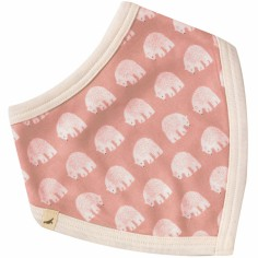 Bavoir bandana réversible Pink Bear