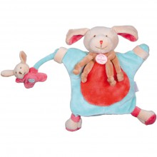 Doudou marionnette chien fraise (24 cm)  par Doudou et Compagnie