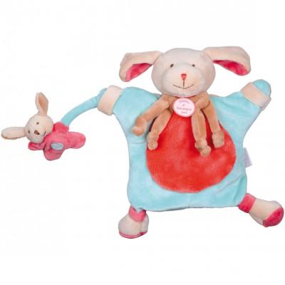 Doudou marionnette chien fraise (24 cm) Doudou et Compagnie