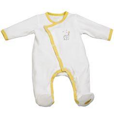 Pyjama chaud Babyfan blanc et gris (3 mois)