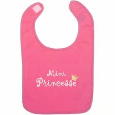 Bavoir Mini Princesse rose fushia