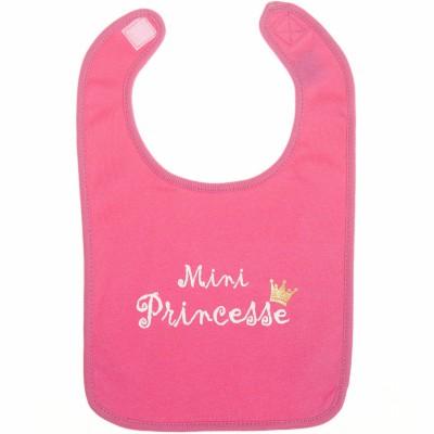 Bavoir Mini Princesse rose fushia  par BB & Co