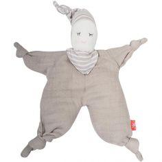 Doudou poupée gris clair