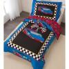 Set 4 pièces taie d'oreiller + couette + drap plat + drap housse Voiture de course - KidKraft
