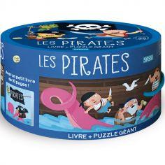 Livre et puzzle géant Les Pirates