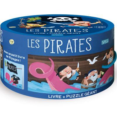 Livre et puzzle géant Les Pirates Sassi Junior