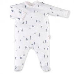 Pyjama léger sapins Svenn beige et gris anthracite (3-6 mois)