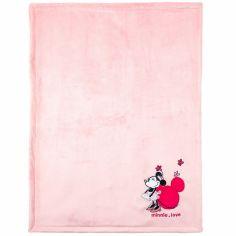 Couverture velours Minnie Love (75 x 100 cm)