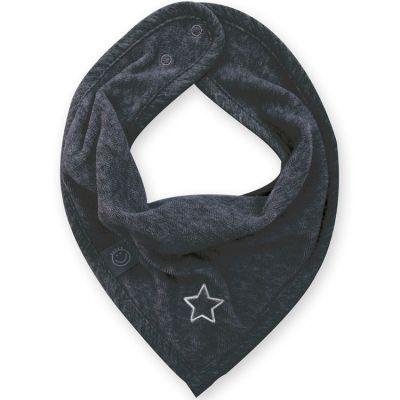 Bavoir bandana étoile Stary gris foncé  par Bemini