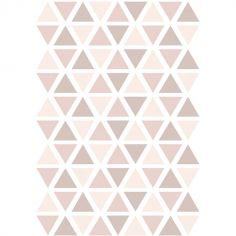 Stickers triangles vieux rose (29,7 x 42 cm)