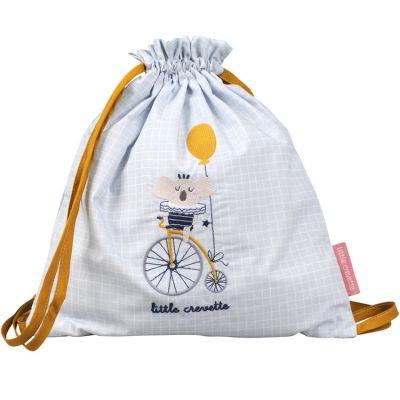 Sac à ficelles en coton bio Lucien  par Little Crevette
